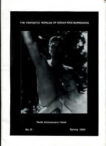 Fantastic Worlds of Edgar Rice Burroughs #12 1984-British fanzine-Manning-FN