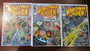 Monkeyman and O'Brien comic set from:#1-3 all 3 different 8.5 VF+ (1996)