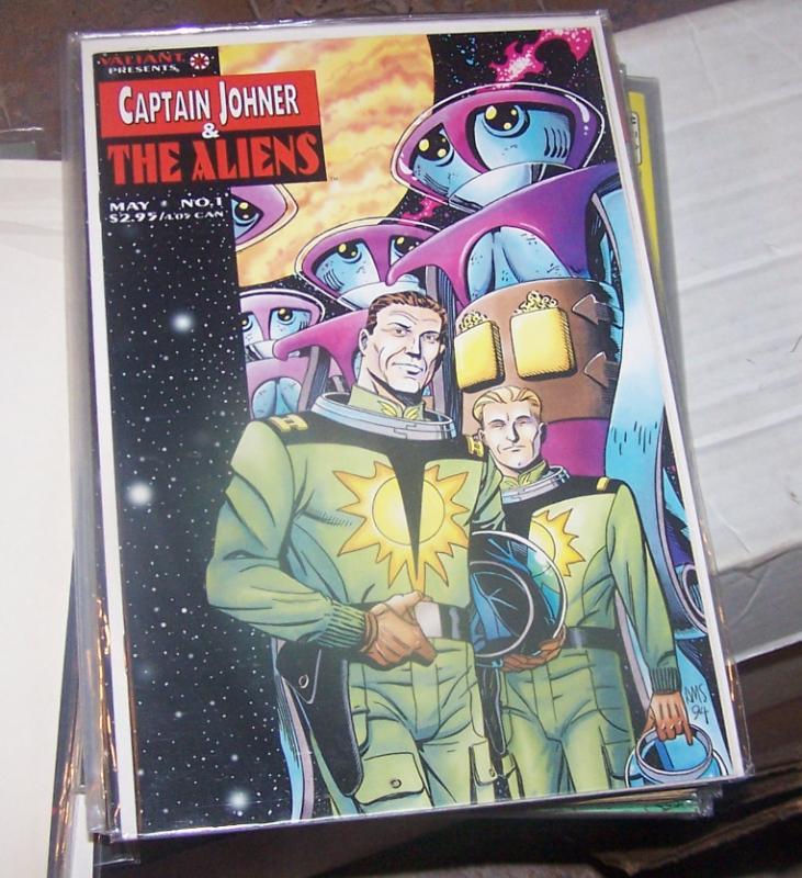 CAPTAIN JOHNER & THE ALIENS #1 & 2, 1994 VALIANT