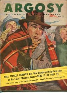 ARGOSY -NOV 1949-JOHN D. MACDONALD-ERLE STANLEY GARDNER-PULP FICTION-vg