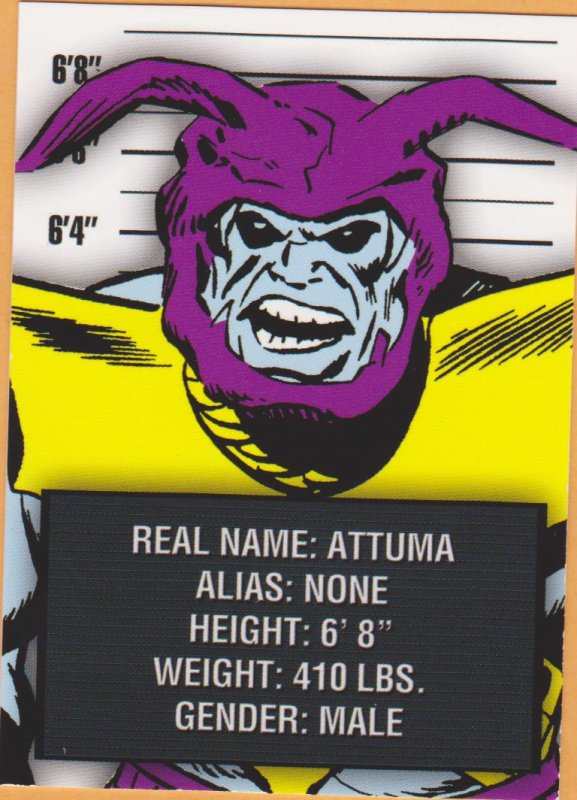 2015 Avengers Silver Age Trading Cards-Classic Villains #CV7 Attuma