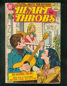 HEART THROBS #139 1972-GUITAR COVER-GIANT-LOVE TRIANGLE VG