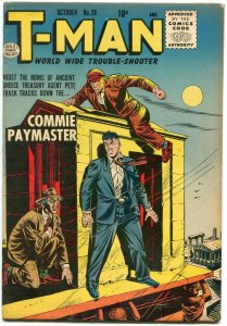 T-Man #28 1955- Commie Paymaster- Quality Comics FN+