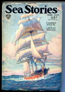 SEA STORIES 05/1929-SLAVE TRADE-ADVENTURE-PULP-PART 2-vg minus