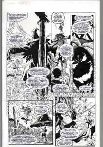 TOD SMITH--ELVIRA #165--JUMP IN---ORIGINAL ART PAGE 12-QUEEN 'B' PRODUC FN