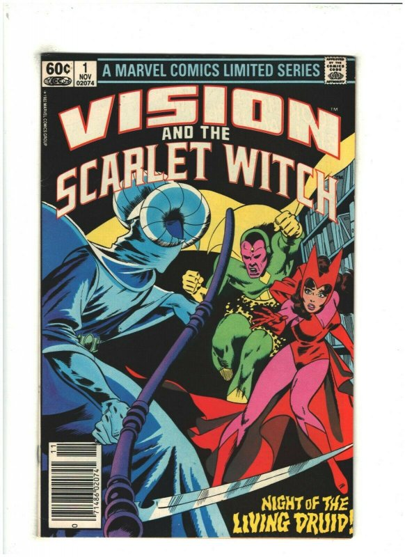 Vision and the Scarlet Witch #1 VF 8.0 Newsstand Marvel Comics 1982