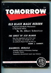 TOMORROW #1-FALL 1954-BIZARRE-OCCULT-BLACK MAGIC-PULP THRILLS-SOUTHERN STATES-vf