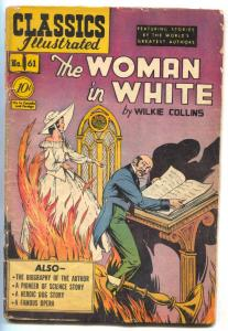 Classics Illustrated #61 HRN 62- WOMAN IN WHITE- edition 1B G+