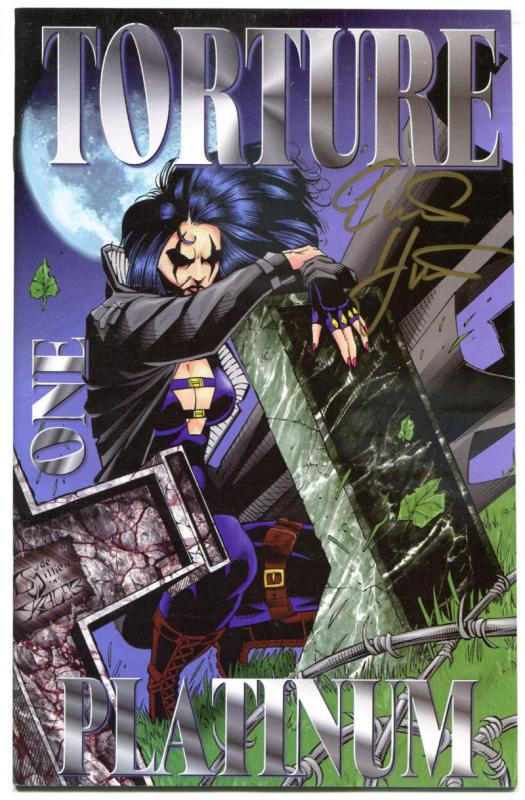 RAZOR TORTURE Platinum #1, NM-, Signed by Hartsoe, Taylor, more indies in store
