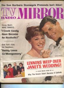 TV Radio Mirror-Janet Lennon-Barbara Stanwyck-Adam West-June-1966