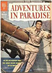 ADVENTURES IN PARADISE-FOUR COLOR #1301-DELL-1962-GARDNER McKAY PHOTO COVER