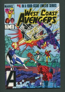West Coast Avengers #4 (1984 Mini Series) / 9.4 NM   December 1984