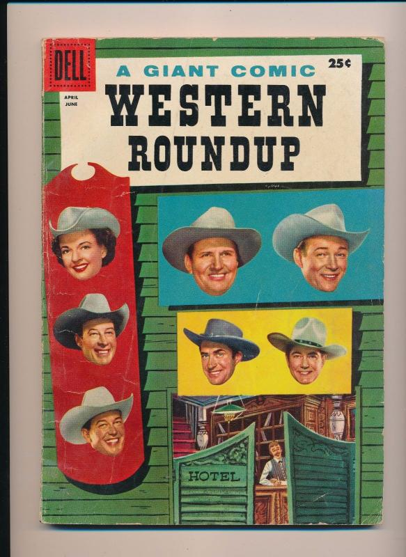 DELL Giant Comics WESTERN ROUNDUP  #14 Good/VG 1956 (B21)