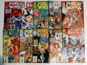 Force Works Comic Book Lot of (10) Marvel Comics CL90/02
