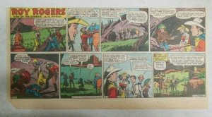 Roy Rogers Sunday Page by Al McKimson from 8/24/1952 Size 7.5 x 15 inches