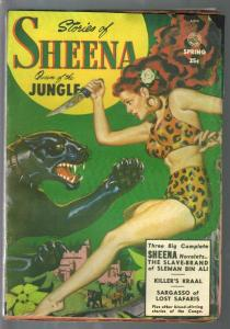 Stories of Sheena Queen of the Jungle #1 Spring 1951-1st issue-P