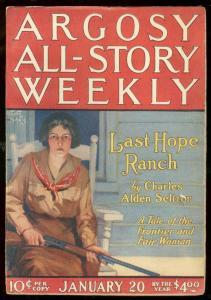 ARGOSY JAN 30 1923-TARZAN & GOLDEN LION-RICE BURROUGHS VF-