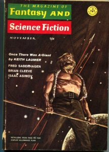 MAGAZINE OF FANTASY AND SCIENCE FICTION-NOV 1968-Science Fiction Pulp Thrills