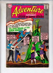 Adventure Comics #343 (Apr-66) FN/VF+ High-Grade Legion of Super-Heroes (Supe...