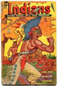 INDIANS  #8 1951-MANZAR-LONG BOW-Golden Age Fiction House Western G-