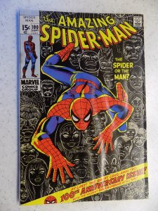 AMAZING SPIDER-MAN # 100 MARVEL MOISTURE RIPPLES STAPLE STAIN