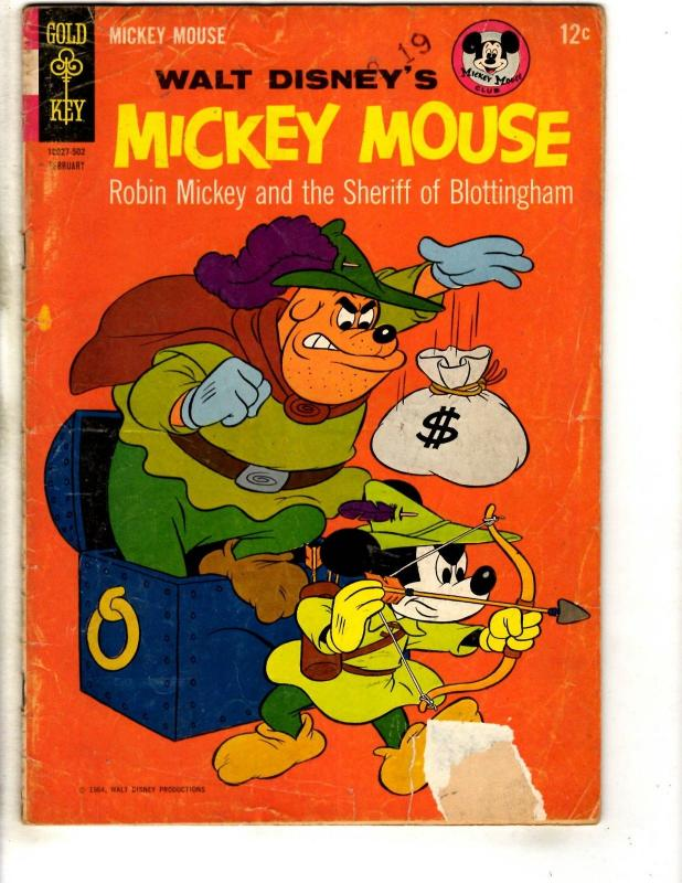 Lot Of 3 Mickey Mouse Gold Key Comic Books # 92 VG/FN 99 VG