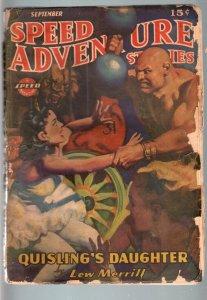SPEED ADVENTURE STORIES 1943 SEP-LEW MERRILL-PULP G