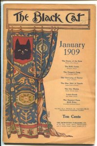 Black Cat 1/1909 Nelly Littlehale Umbstaetter cover-Early issue-pulp fiction-...