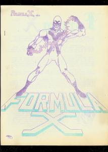 FORMULA X - #1-COMIC FANZINE---ED SHEA & DON MAITZ-1969 VG