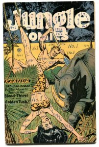Jungle Comics #76 1946-Kaanga- Rhino attack cover VG-