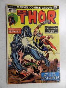 THE MIGHTY THOR # 224 MARVEL GODS JOURNEY ACTION ADVENTURE VG/FN