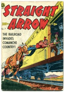 Straight Arrow #7 1950- Golden Age Western- Fred Meagher G/VG