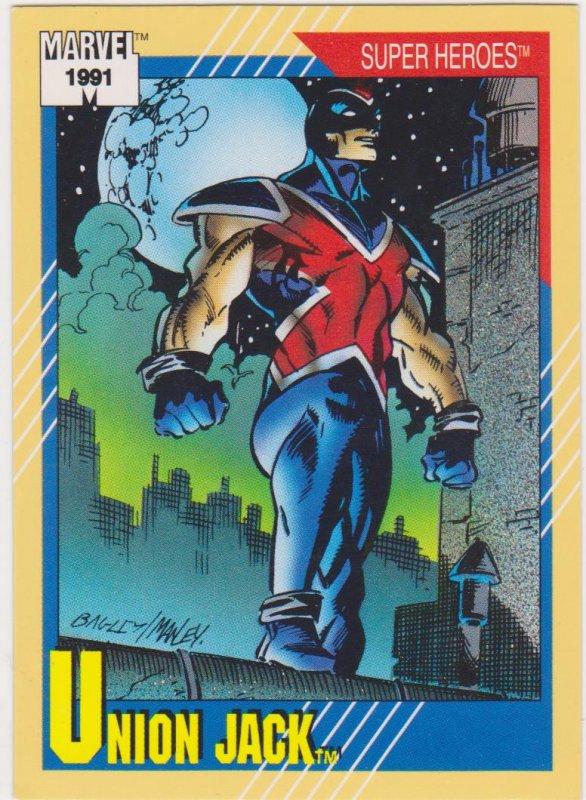 1991 Marvel Universe #24 Union Jack