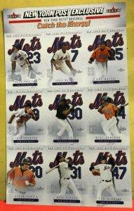 Fleer 2004 New York Post Mets Panel Jason Phillips Jose Reyes Rookie Piazza HOF