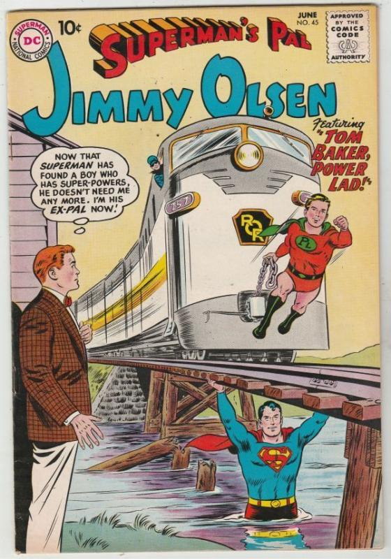 Superman's Pal Jimmy Olsen #45 strict VF/NM 9.0 High-Grade 1st Appear- Power Lad
