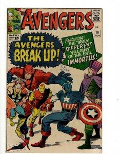 Avengers # 10 VF Marvel Comic Book Hulk Thor Captain America Iron Man OF2