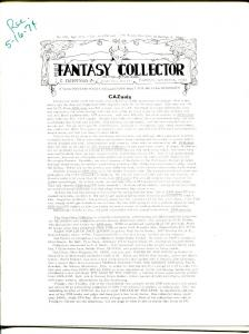 Fantasy Collector #178 1974-Caz-early comic buying/selling resource-pulps-VG