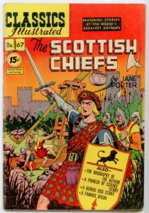 Classics Illustrated #67 HRN 85 - The Scottish Chiefs  FN-5.5