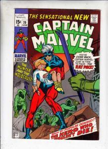 Captain Marvel #20 (Jun-70) NM- High-Grade Captain Marvel