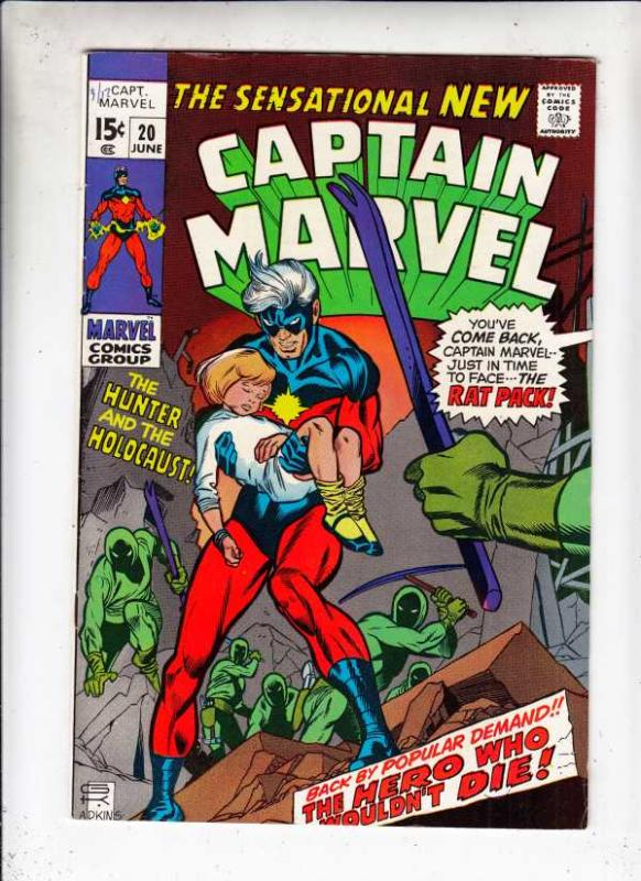 Captain Marvel #20 (Jun-70) NM- High-Grade Captain Marvel