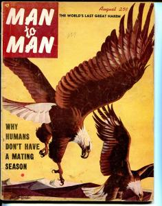 Man to Man 8/1952-frogmen-zombies-cheesecake-pulp-P/FR