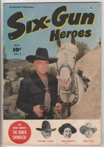 Six-Gun Heroes #2 (May-50) VG+ Affordable-Grade Hopalong Cassidy, Rocky Lane,...
