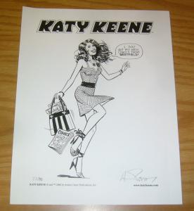 Katy Keene print signed by andrew pepoy - archie comics - limited (#22 of 75)