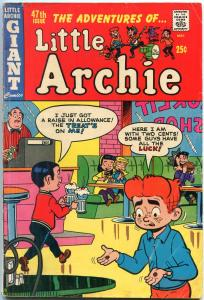 Little Archie #47 1968- Soda Shop ice cream cover VG