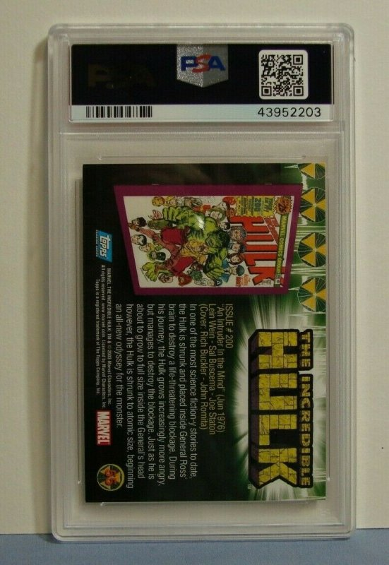 2003 Topps Incredible Hulk Card Issue #102 SIGNED JOHN ROMITA SR PSA/DNA EX 5