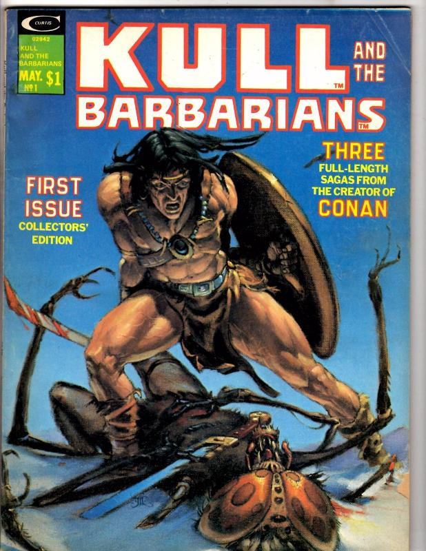 Kull & The Barbarians # 1 VG/FN Marvel Comic Book Curtis Magazine Conan King WI1