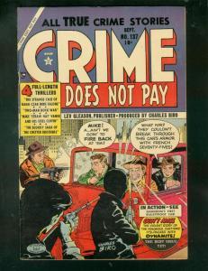 CRIME DOES NOT PAY #137 1954-CHARLES BIRO-TOMMY GUN CVR FN+