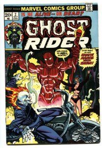 Ghost Rider #2 First full appearance of Daimon Hellstrom 1973 VF-