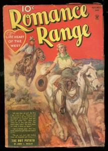 ROMANCE RANGE #1 NOV 1935-HOT POTATO-AMOS HARLIN-PULP VG