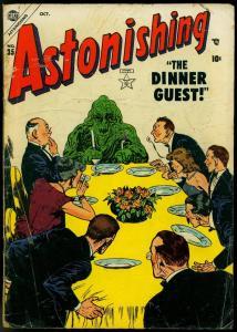 Astonishing #35 1954- Atlas Precode horror- Dinner Guest G/VG